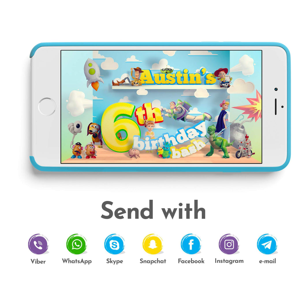 Toy Story Video Invitations - 1