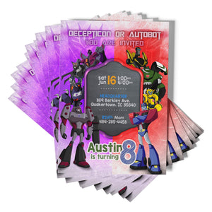 Transformers Birthday Invitations - 1
