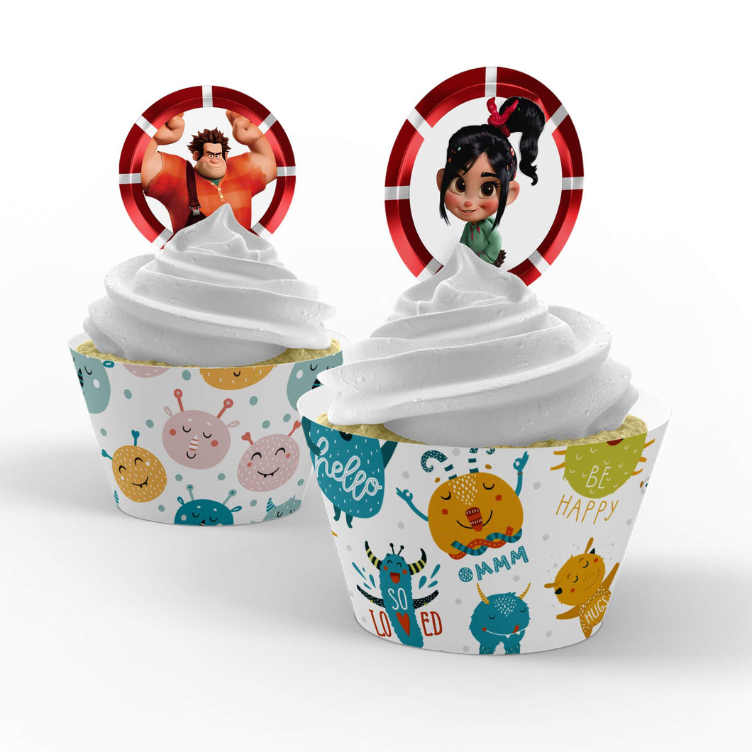 Wreck-It Ralph Cupcake Toppers - 1