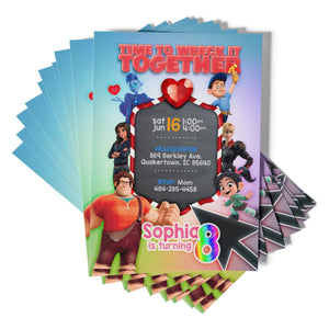Wreck It Ralph Invitations - 1