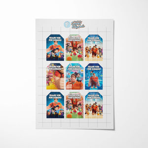 Wreck-It Ralph Thank You Tags - 2