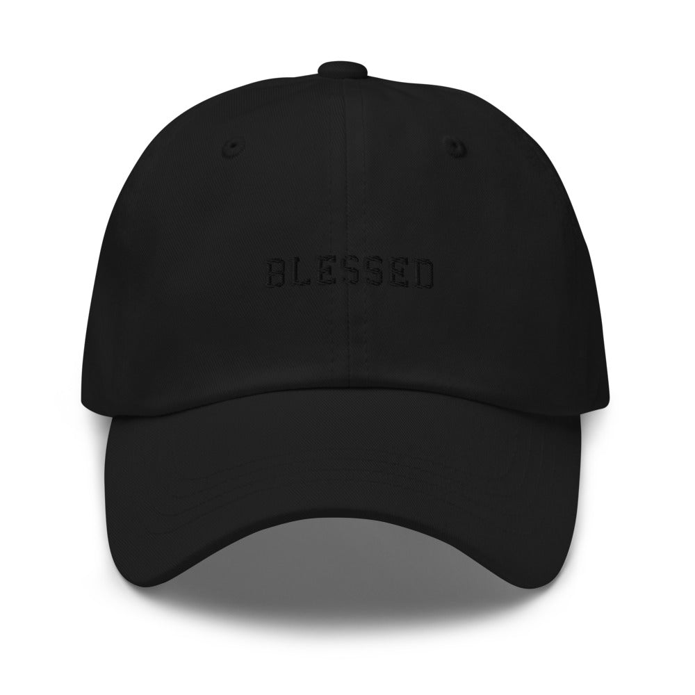 Blessed Dad Hat (Black on Black)