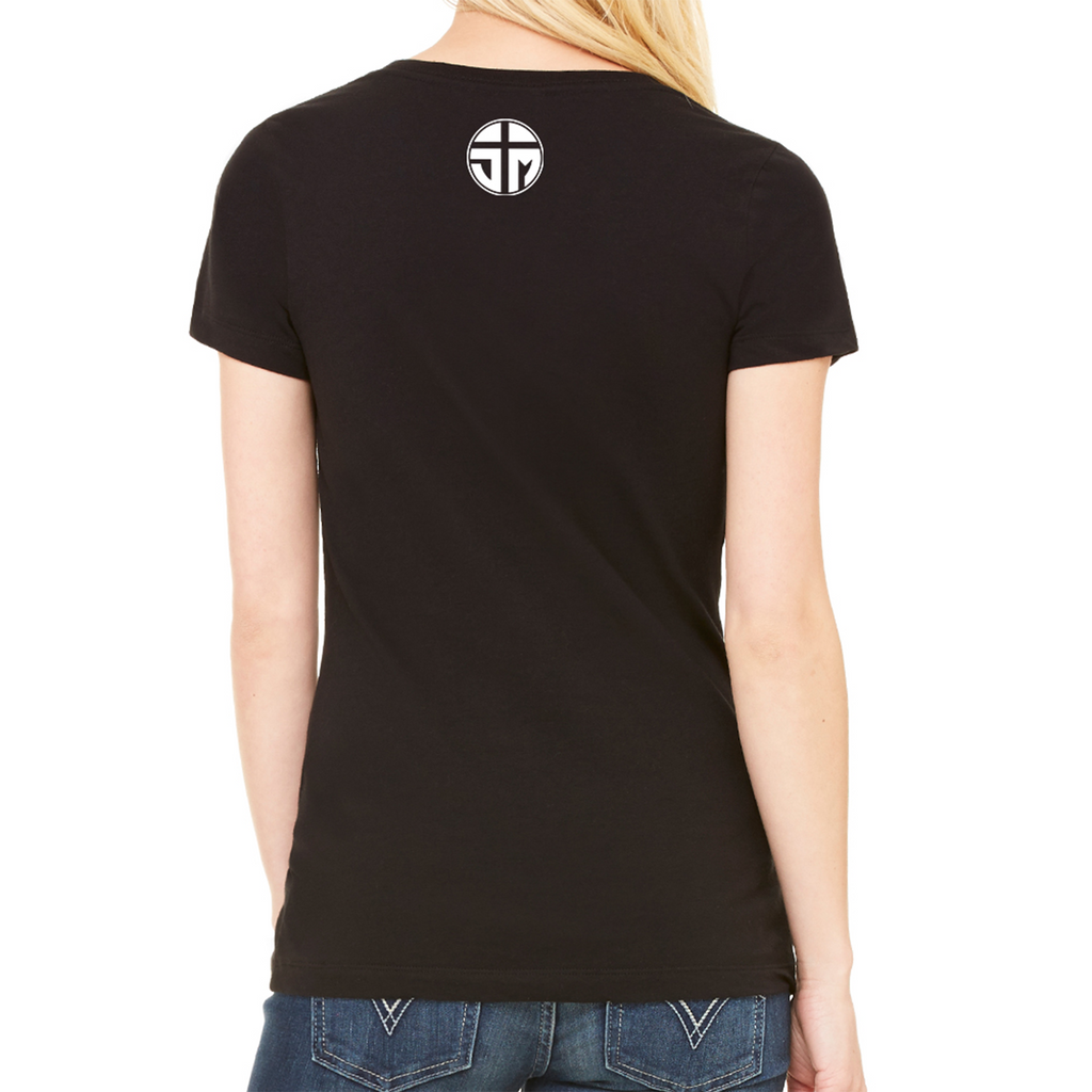 Blessed Ladies V-Neck T-Shirt (Black)