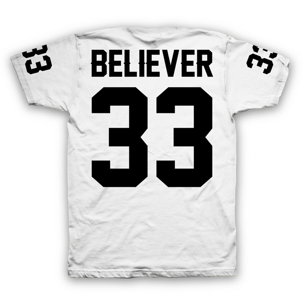 Believer Jersey T-Shirt (White)