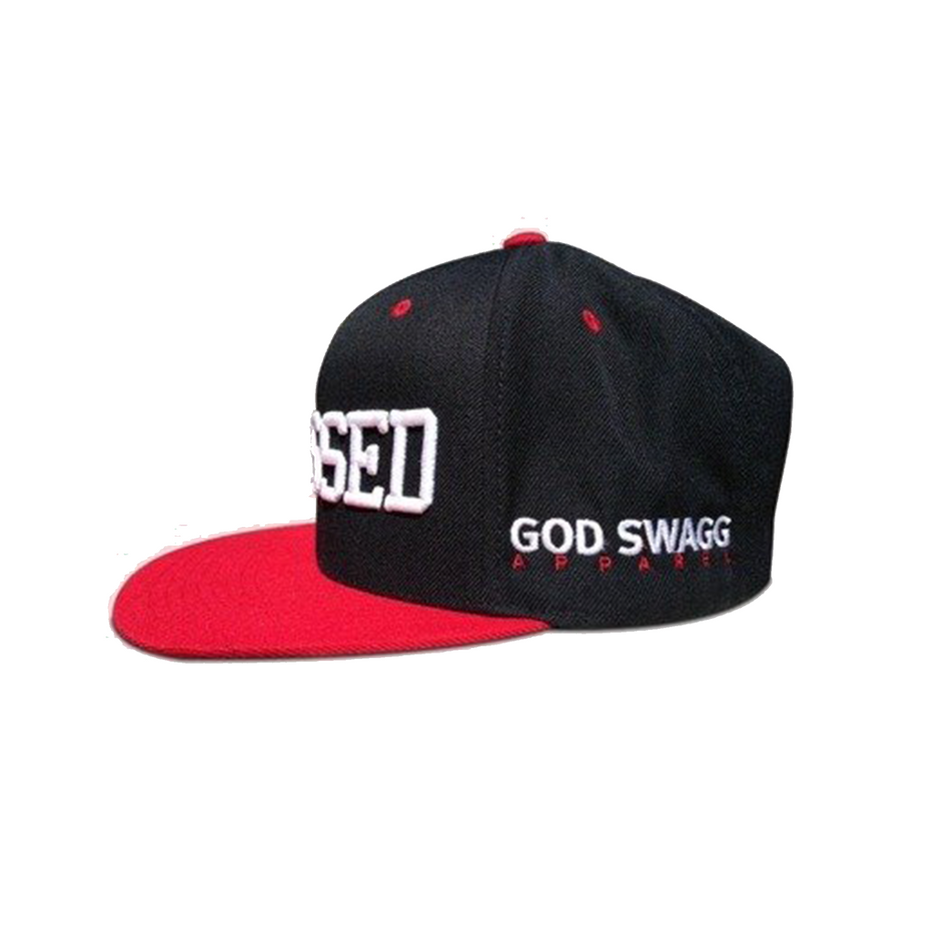 Blessed Snapback (Black & Red)
