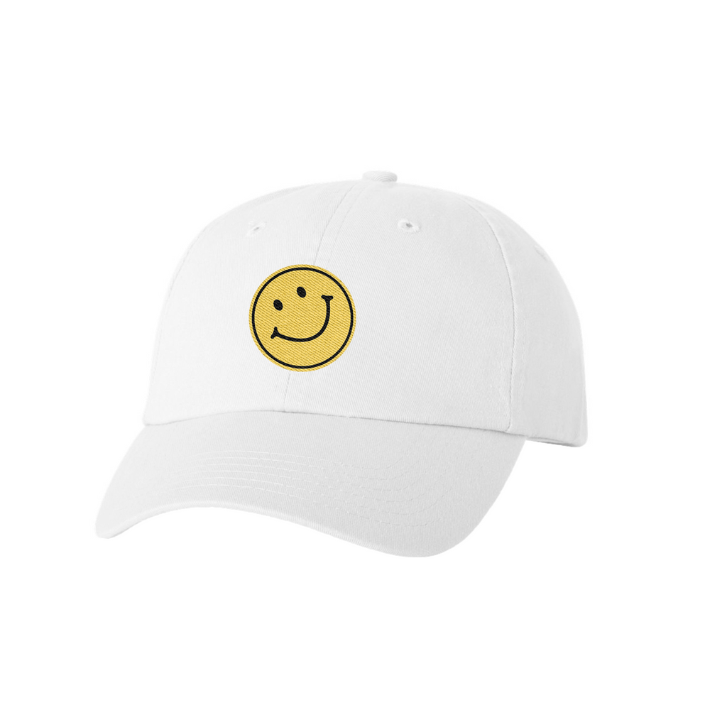 Chosen Smiley Dad Hat White