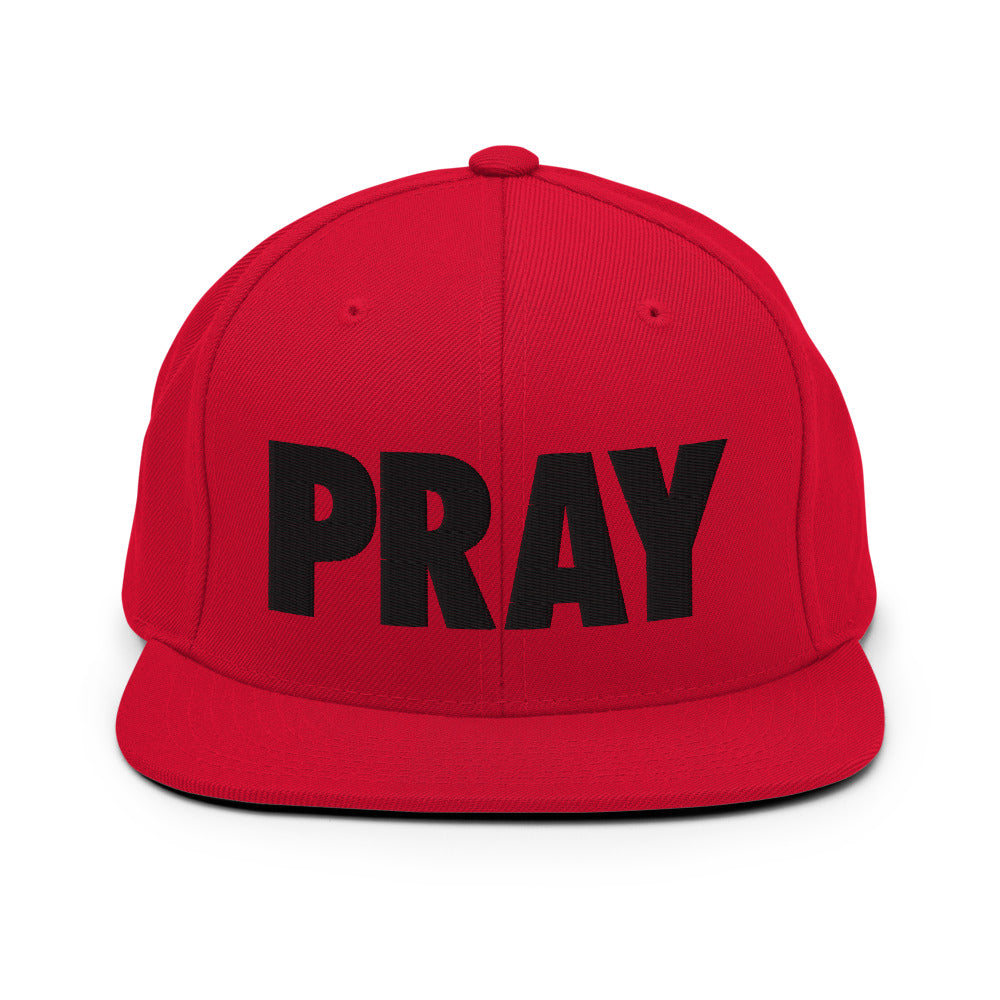 PRAY Snapback Hat Red