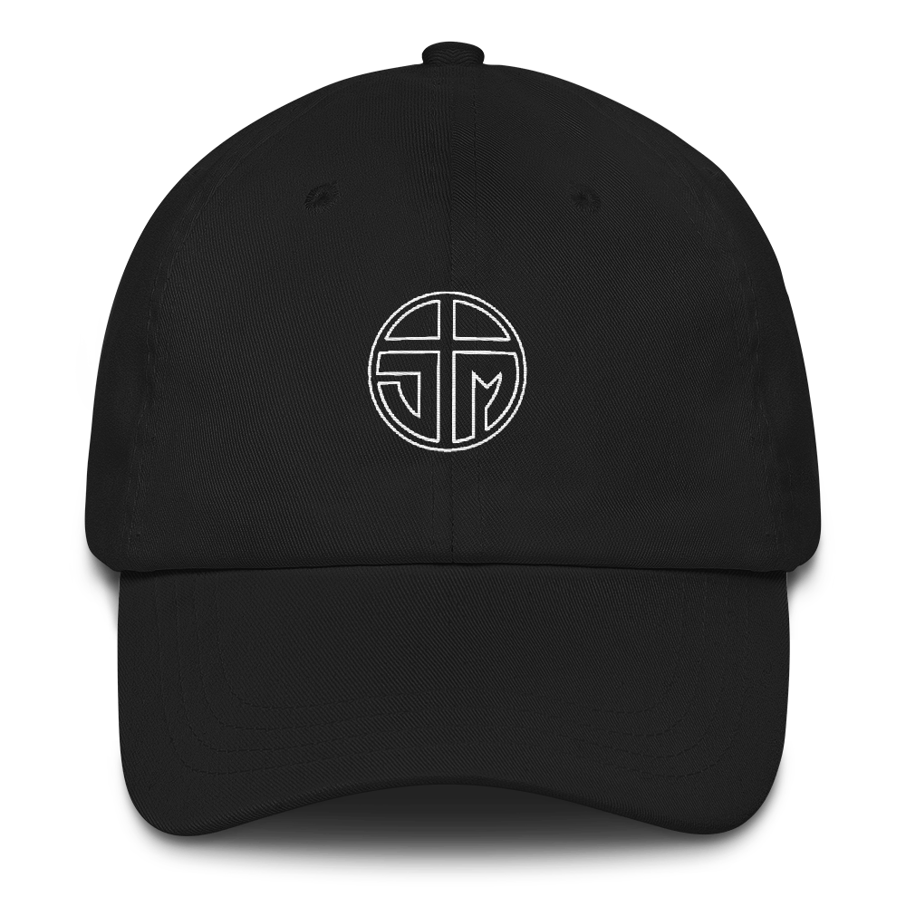 JM Logo Dad hat Black