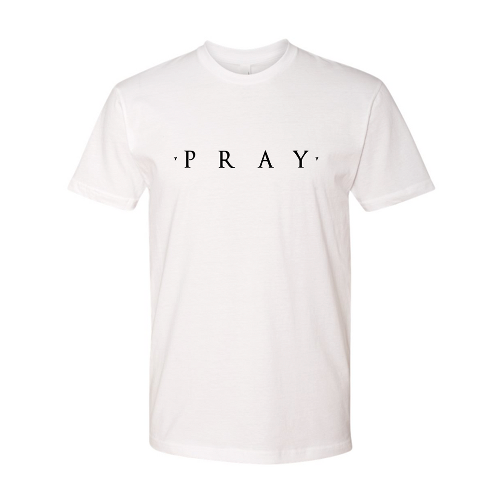 Pray Tee White GSA X Hallow Collab