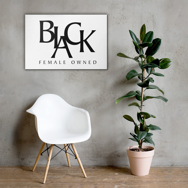 Black Female Owned Logo Canvas