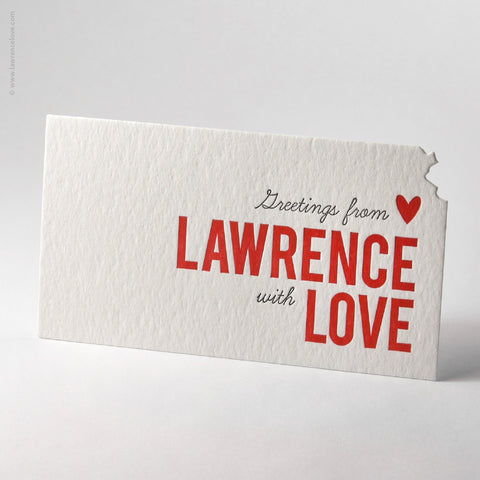 Lawrence Love Diecut Postcard (#187) - Lawrence Love