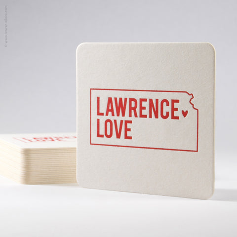 Lawrence Love Paper Coasters (#407) - Lawrence Love