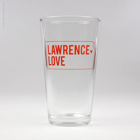 Lawrence Love Pint Glass (#408) - Lawrence Love