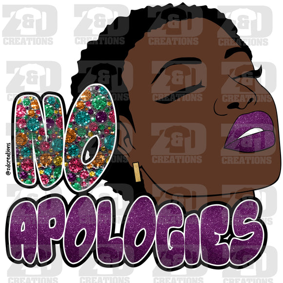 NO APOLOGIES DIGITAL FILE