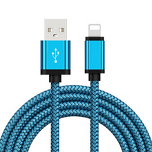 Load image into Gallery viewer, Nylon Braided iPhone Charger (3ft, 6ft, 10ft)