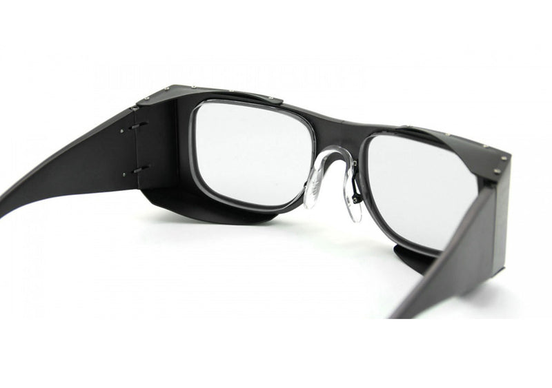 Retro laser protection eyewear rear