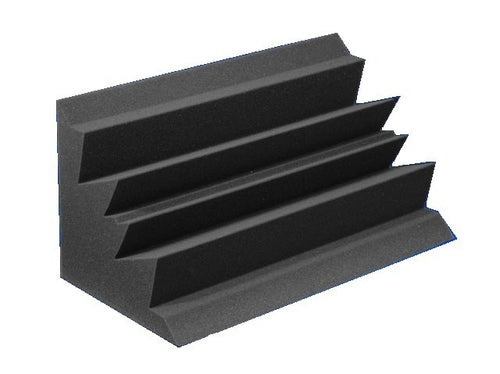 12 X 12 X 24 Charcoal Acoustic Corner Bass Absorbers 2 Pack