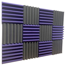 Load image into Gallery viewer, purple and black acoustic foam panels for sound absorption
