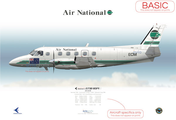 Air National ~ Embraer EMB-110P1A ZK-ECM