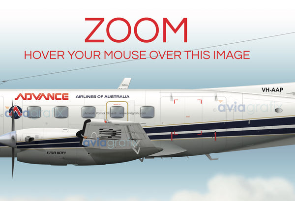 Advance Airlines ~ Embraer EMB-110P1 VH-AAP