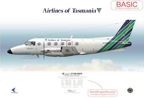 Airlines of Tasmania ~ Embraer EMB-110P1 VH-WPZ