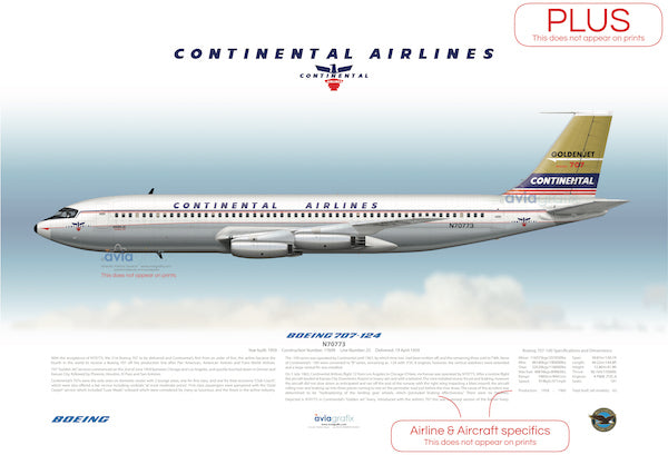 Continental Airlines ~ Boeing 707-124 N70773
