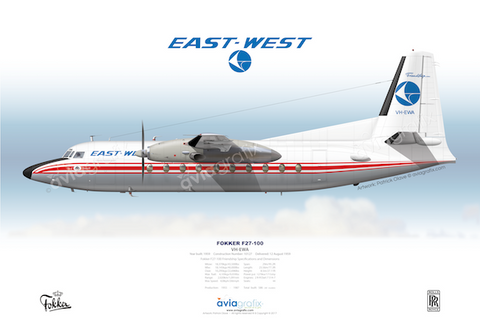 East-West Airlines ~ Fokker F27-100 VH-EWA ~ 1968