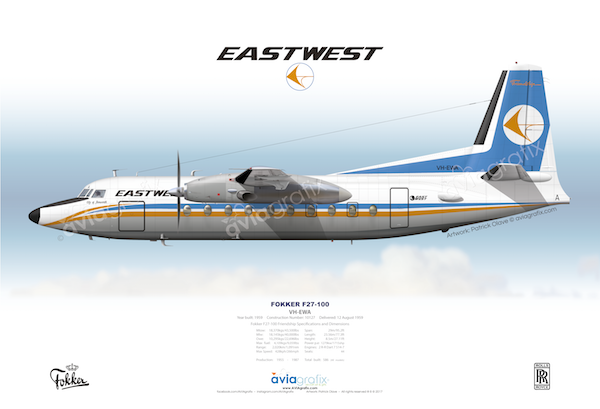 East-West Airlines ~ Fokker F27-100 VH-EWA ~ 1971