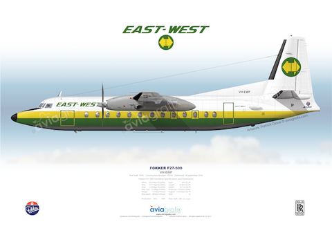 East-West Airlines ~ Fokker F27-500 VH-EWP ~ 1984