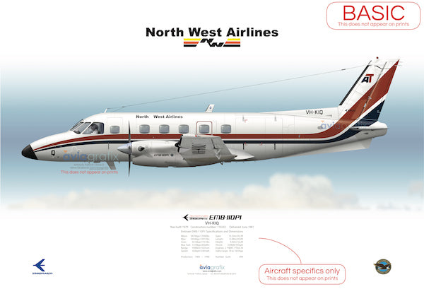 North West Airlines ~ Embraer EMB-110P1 VH-KIQ