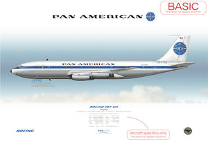 Pan American World Airways ~ Boeing 707-121 N709PA
