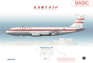 QANTAS ~ Boeing 707-138 VH-EBA ~ 1959 ~ City of Canberra (Official delivery name)