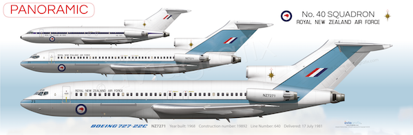 RNZAF 40 Squadron ~ Boeing 727-22C NZ7271 ~ Commemorative