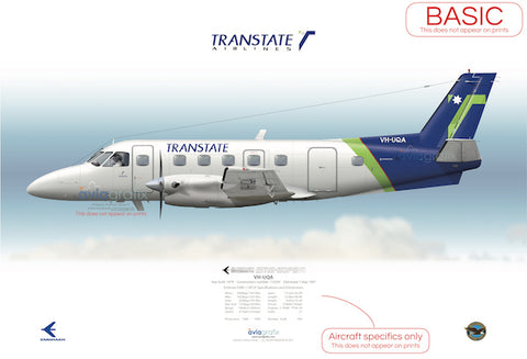 Transtate Airlines ~ Embraer EMB-110P2 VH-UQA
