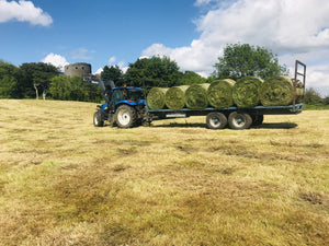 Silage time at Dundrum Castle!