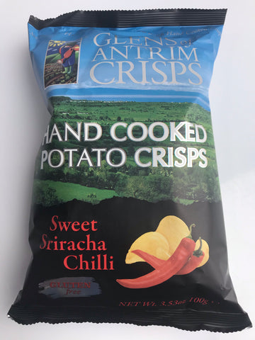 Glens of Antrim crisps - Sweet Sriracha Chilli Flavour - 100g bag