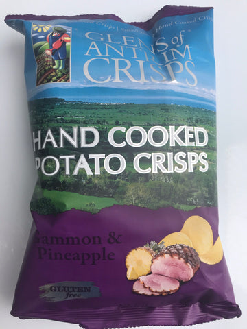 Glens of Antrim crisps - Gammon and Pineapple Flavour - 100g bag