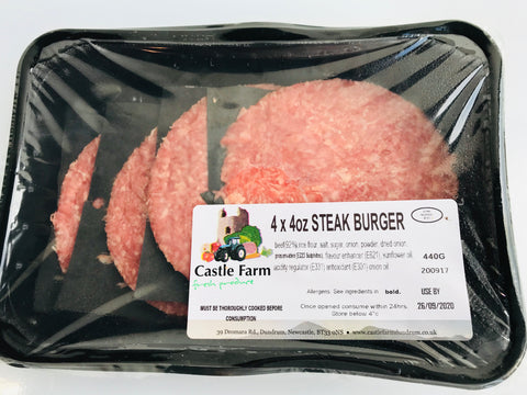 Plain Steak Burgers