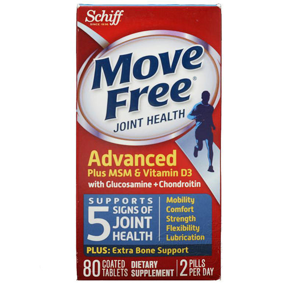 Move Free Advanced plus MSM Vitamin D3 with Glucosamine Chondroitin 80 pcs