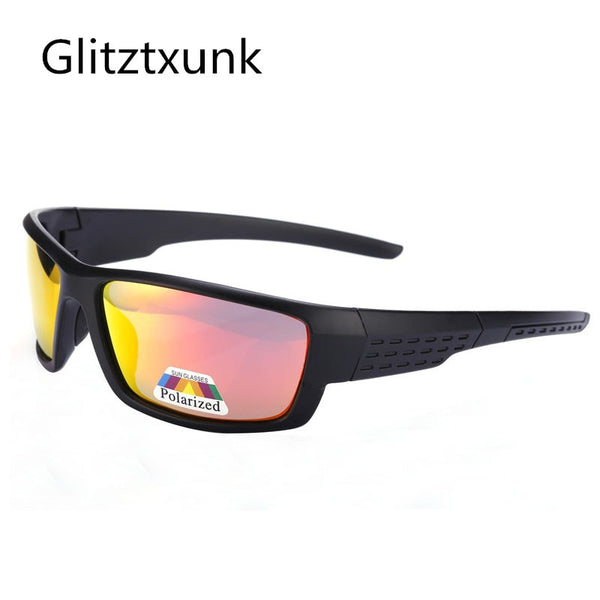 Glitztxunk Sunglasses Men Women Polarized Sports Sun Glasses Square Retro Black Frame Outdoor Sport Driving Eyewear Oculos Gafas