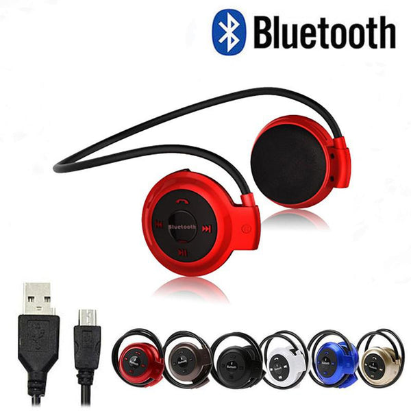 DSstyles Fashion Wireless Bluetooth 4.0 Headphones FM Radio Sport Music Stereo Earpics Micro SD Card Slot Headset Drop Shipping