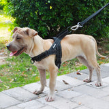 Dog Harness Easy On and Off Adjustable Medium Large Dogs,Reflective no Pull Training Vest for pet Dogs walking harness