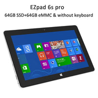 "Jumper EZpad 6s pro / EZpad 6 pro 2 in 1 tablet 11.6"" 1080P IPS tablets pc Apollo Lake N3450 6GB DDR3 128GB SSD+64GB eMMC win10"