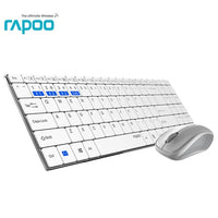 New Rapoo Multi-mode Silent Slim Wireless Keyboard Mouse Combos Switch Between Bluetooth & 2.4G Connect Up To 3 Devices #9060M