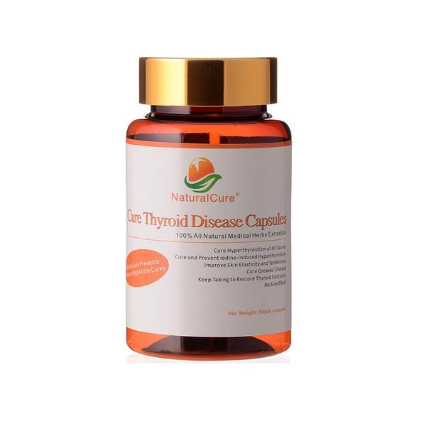 NaturalCure Cure Thyroid Diseases Capsules, Cure Thyroid Swelling, Balance Thyroid Hormone Secretion, Plants Extract 50 pills