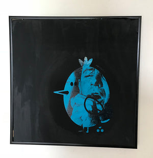 "Abe Lincoln Jr. Char Serigraph on Vintage 12"" Record"