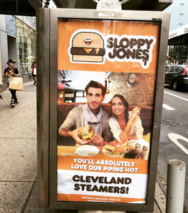 Sloppy Jones Cleveland Steamer Ad Takeover