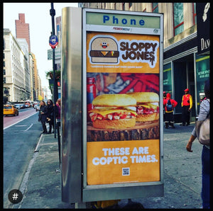 "Sloppy Jones ""Bad Brains"" Ad Takeover"