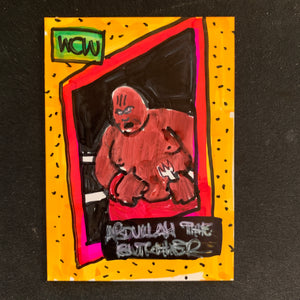 Hand drawn Wrestling Trading Cards
