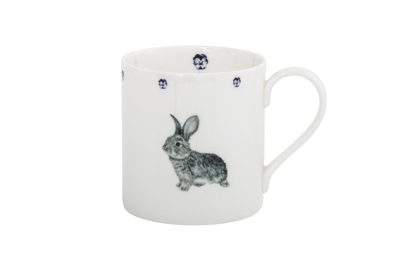 Daisy Rabbit and Pansy Bone China Mug